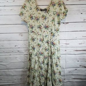 Vintage All That Jazz Floral Garden Midi Dress
